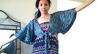 HOW TO SEW EASY SUMMER BOLERO, SHRUG,CARDIGAN AND CAPE