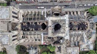 Notre-Dame de Paris: de nouvelles images de drone montrent l'étendue des dégâts