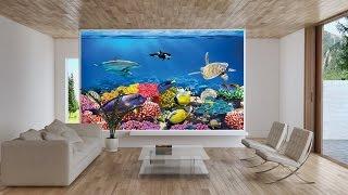 Undersea Coral Reef Photo Wall Paper - Aquarium Fish Sea Mural - Underwater World Wall Decoration