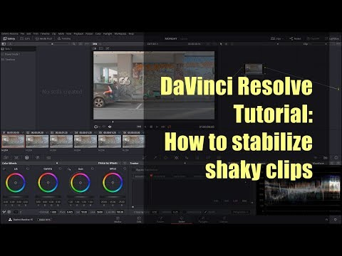 DaVinci Resolve Tutorial: How to stabilize shaky clips