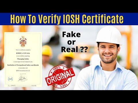 How to verify Iosh certificate | Online verify Iosh certificate | Tips to verify Iosh certificate