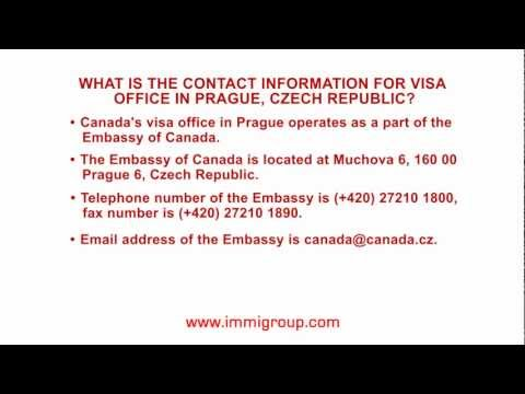 What is the contact information for visa office in Prague, Czech Republic?