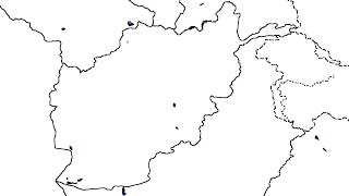 BLANK MAPS #1 ... Afghanistan / Afghánistán (speed-art)