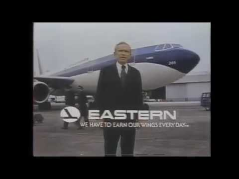 1981 Eastern Airlines Commericail with an A300