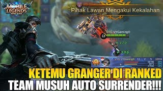 TEST GRANGER DI RANK MATCH - MUSUH NYA LANGSUNG MINTA SURRENDER! MOBILE LEGENDS NEW HERO thumbnail