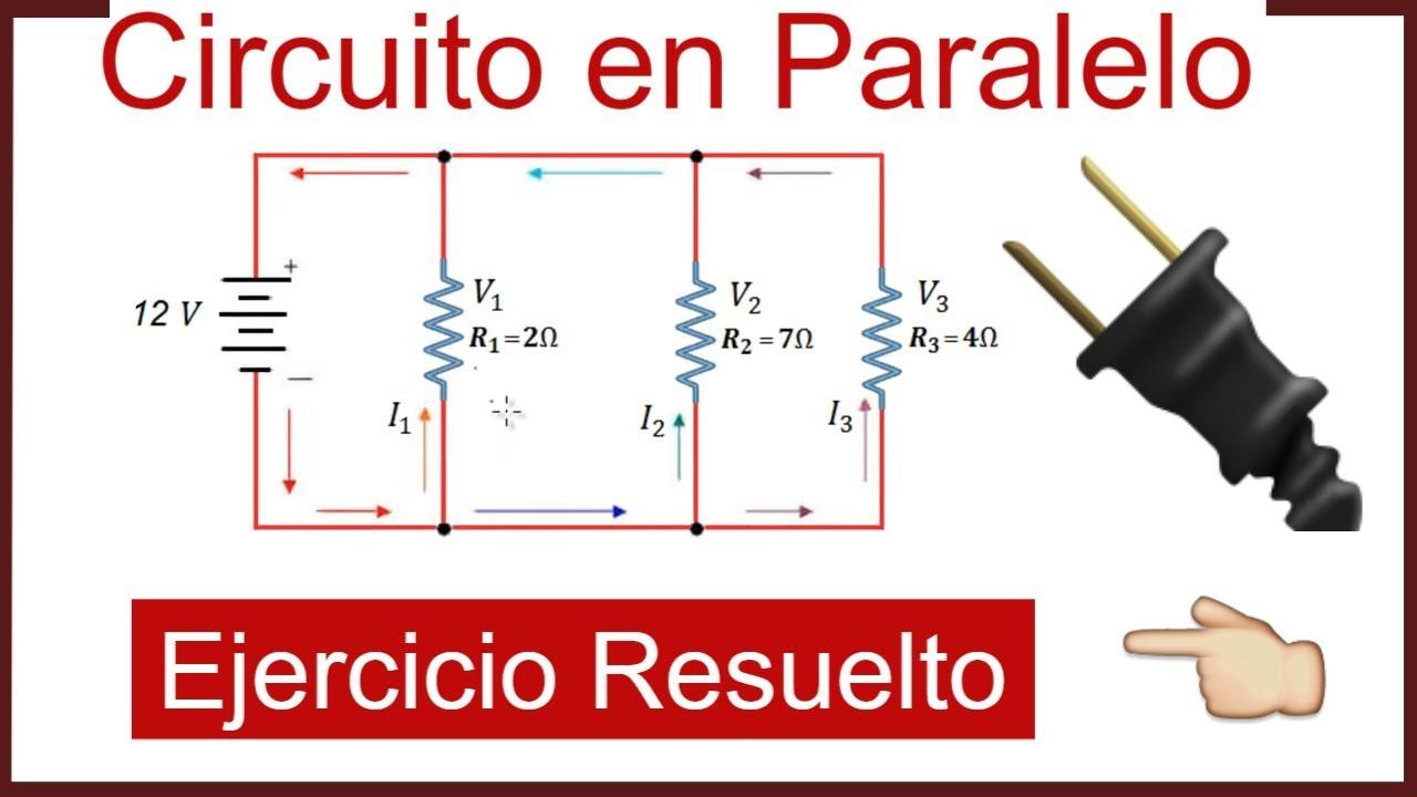 Circuito Paralelo : Ejercicio de circuitos en paralelo resistencias