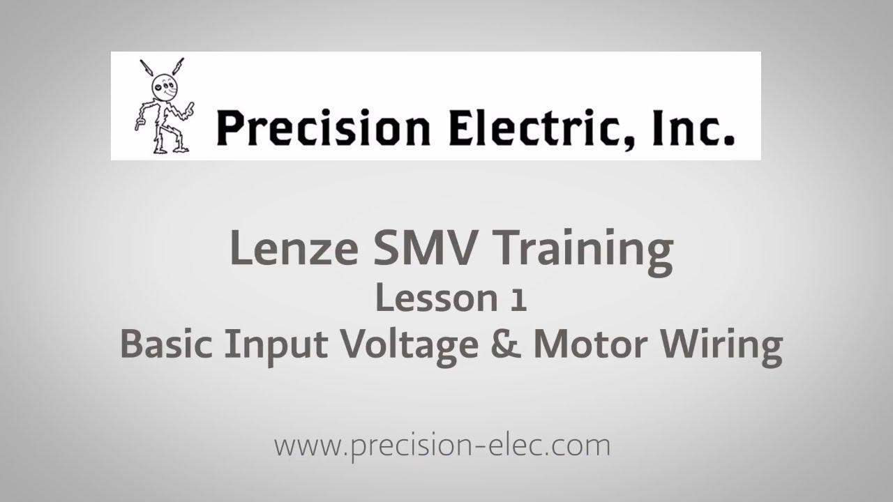 Lenze Inverter Wiring Diagram : Lenze smv training lesson basic input voltage motor wiring