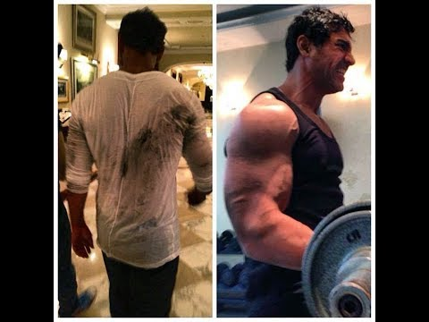 john Abraham's Intense Gym Bodybuilding Workout