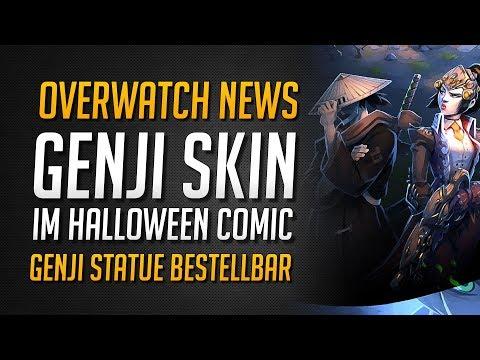 GENJI SWORDSMAN SKIN TEASER?!   Mini Halloween Comic   Genji Statue erhältlich ★ Overwatch Deutsch