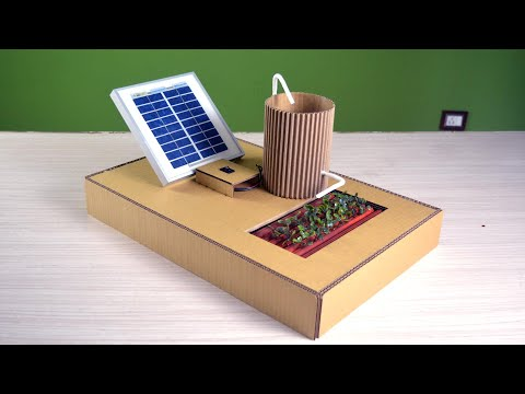 Watering using Solar Power | easy school project for competition ( Working Model)