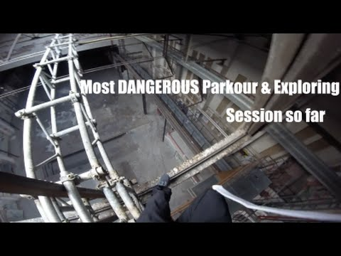 Most DANGEROUS Parkour And Exploring POV Session/Abandoned Factory Complex/GoPro HERO4Session