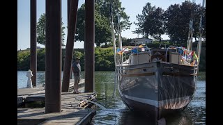 Family boat Corahleen returns to water after restoration