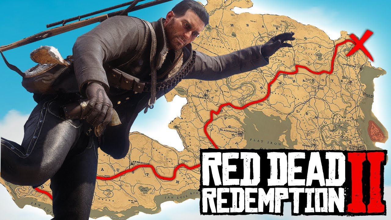 DRUNK WALKING across the ENTIRE MAP in Red Dead Redemption 2 thumbnail