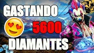 GASTANDO 5600 DIAMANTES NO FREE FIRE!