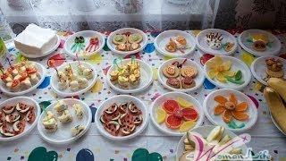 как сделать стол на день рождения недорого
