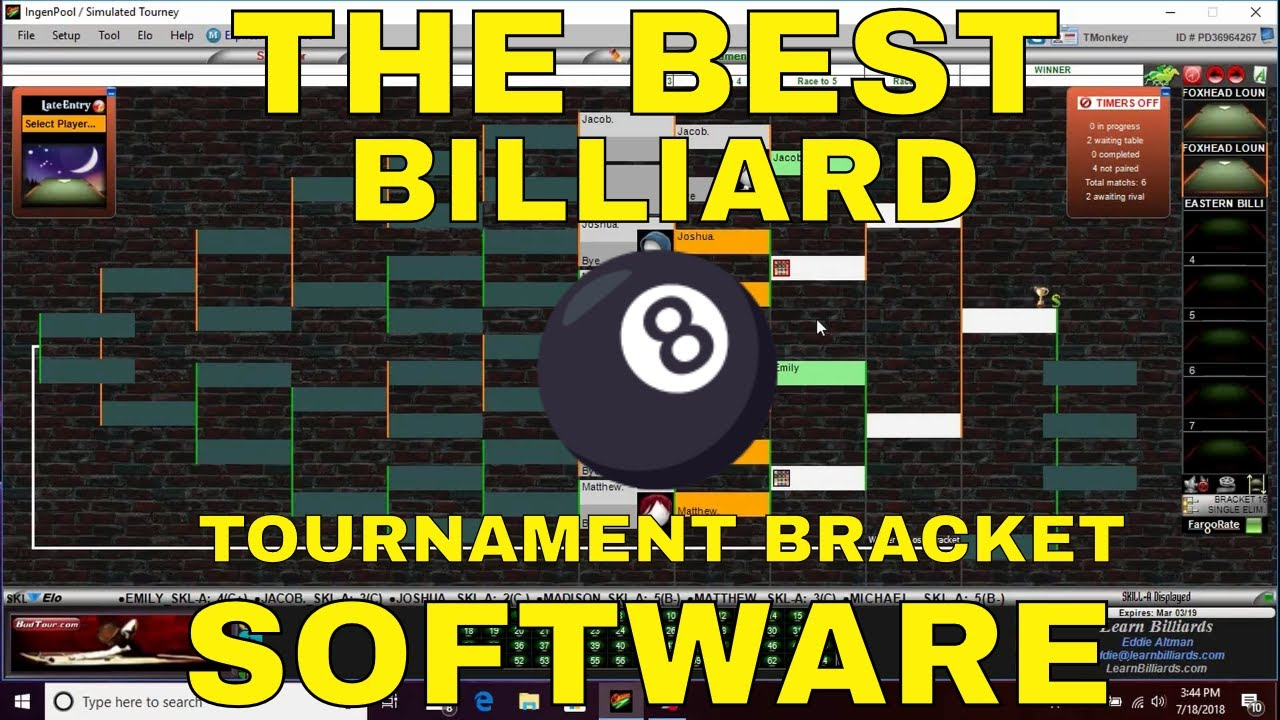 Billiard Tournament Software