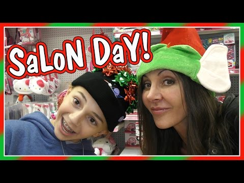 GIRLS' SALON DAY AND LAST MINUTE SHOPPING | We Are The Davis