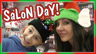 GIRLS' SALON DAY AND LAST MINUTE SHOPPING | We Are The Davises