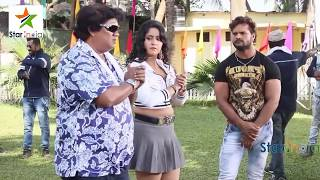 Khesari lal yadev & SHUBHI SHARMA Making Of aatankwad movies bhojpuri
