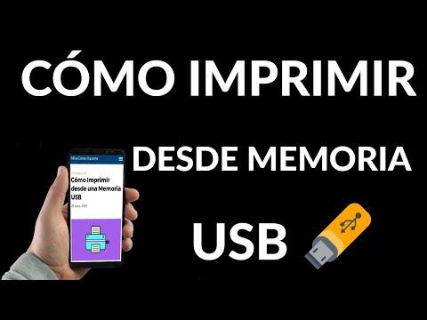 Cómo Imprimir desde una Memoria USB