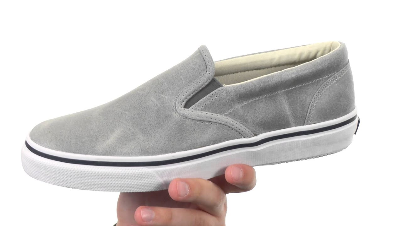 6b5560ef94 Sperry Top-Sider Striper Slip-On White Cap SKU 8629179 - YouTube