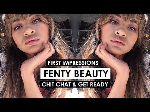 FENTY BEAUTY FIRST IMPRESSIONS | Glowy Makeup Tutorial