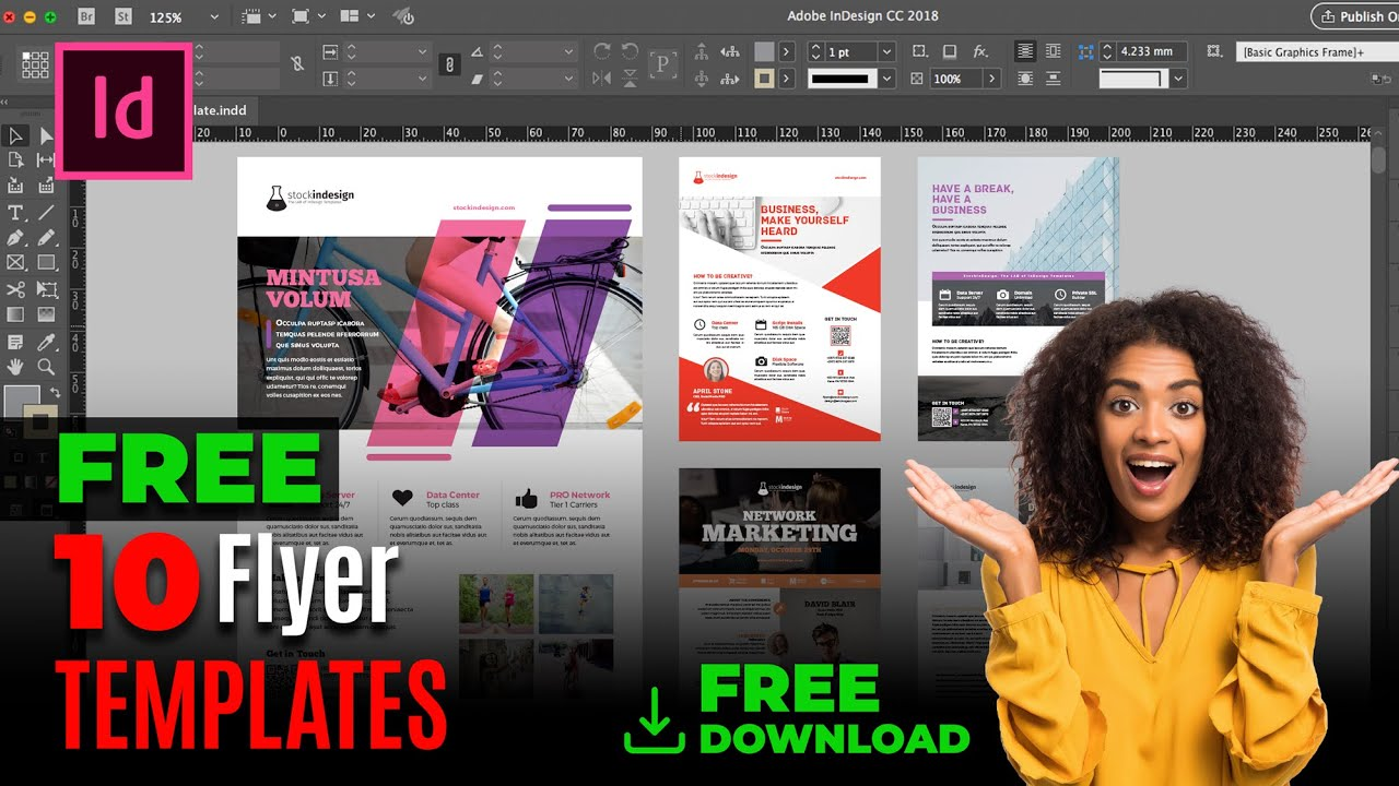 FREE InDesign Bundle: 10 Corporate Flyer Templates - YouTube
