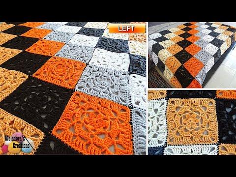 Lacy Flower Granny Square -  Left Handed Crochet Tutorial