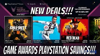 NEW PSN SALE GAME AWARDS 2018 Live PlayStation - PS4 GAME DEALS