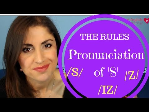 Pronunciation lesson| How to pronounce 's' in 3rd person 's' and plural nouns
