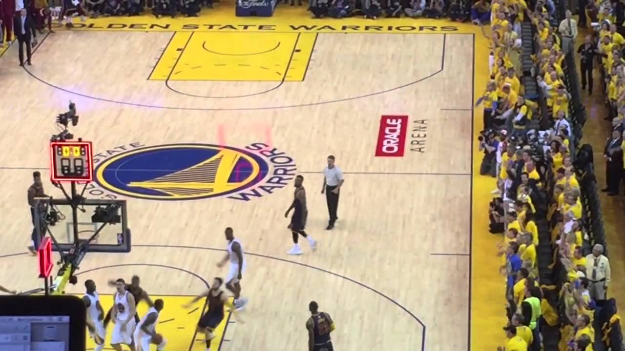 Last play of regulation, Game 2 of 2015 NBA Finals - YouTube