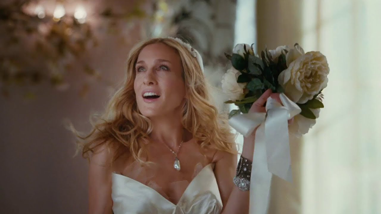 Satc Movie 1 Carrie S Wedding Dresses Hd Youtube