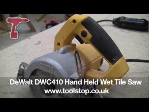 Dewalt Dwc410 Hand Held Wet Tile Saw Youtube
