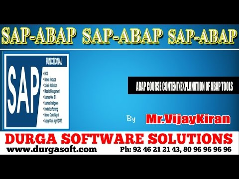 SAP - ABAP  || Course Content Explanations of ABAP tools