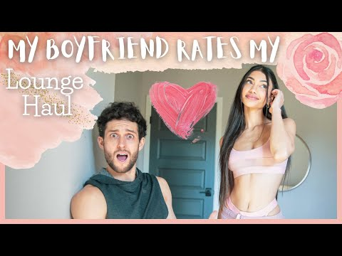 My BOYFRIEND rates my Valentine's Day LOUNGE HAUL