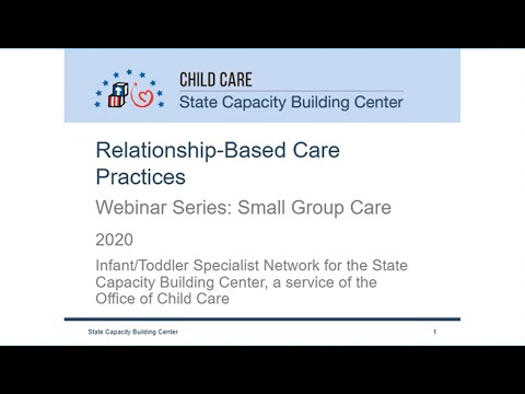 Relationship-Based Care Webinar Series: Small Group Care