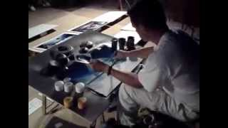 Street Spray Painter - Sillot, Majorca - 2008 (Clark and Tilly)