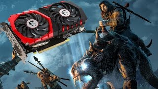 Benchmark MSI GeForce GTX 1050 Gaming X | Shadow of Mordor | GeForce Experience Optimized