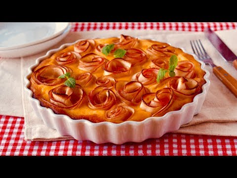 How to Make Apple Roses Healthy Banana Cake (Easy Recipe for Babies and Toddlers) - OCHIKERON - 동영상