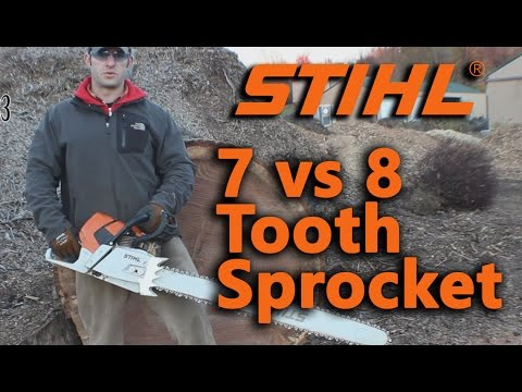 Stihl MS 661 7 Vs. 8 Tooth Sprocket