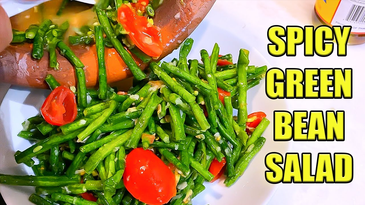 SPICY GREEN BEAN SALAD   SIMPLE & EASY RECIPE   COOKING SOUNDS   ASMR Phan