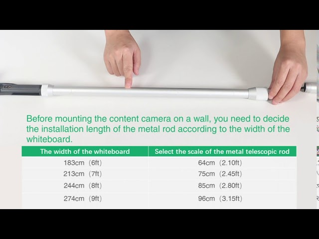 How to install the content camera