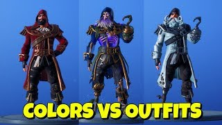 Nouveau BLACKHEART SKIN COLORS sur DIFFERENT OUTFITS à Fortnite