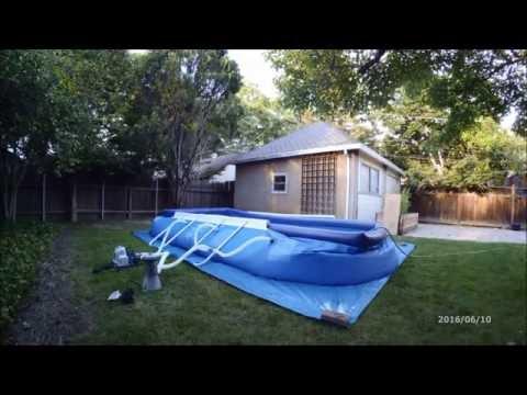 intex oval ellipse frame pool setup instructions doovi. Black Bedroom Furniture Sets. Home Design Ideas