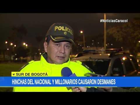Seguidores de Nacional y Millonarios convirtieron barrio del sur de Bogotá en campo de batalla