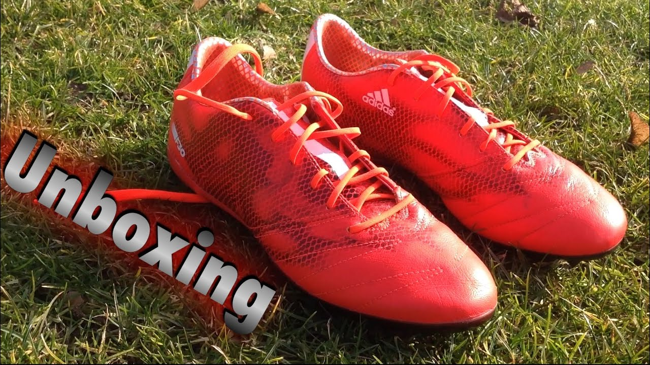 77b64e680 Unboxing   Review  Adidas F30 Fg Solar Red Leather - YouTube