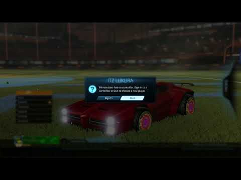 Controller Disconnects Mid Trade | Lost Heatwave BLACK MARKET DECAL!! - Rocket League (Trading Scam)