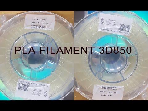 testing filament pla 3d850 youtube. Black Bedroom Furniture Sets. Home Design Ideas