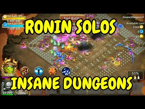 Ronin Solos Insane Dungeons L 8-1 To 8-5 L Castle Clash