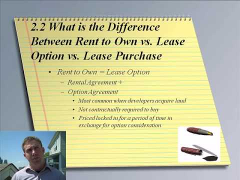 Rent To Own Vs Lease Purchase  Youtube